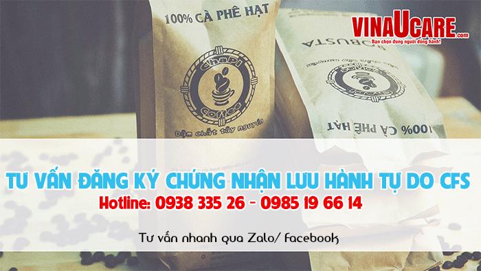 Đăng ký giấy chứng nhận lưu hành tự do sản phẩm cà phê xuất khẩu