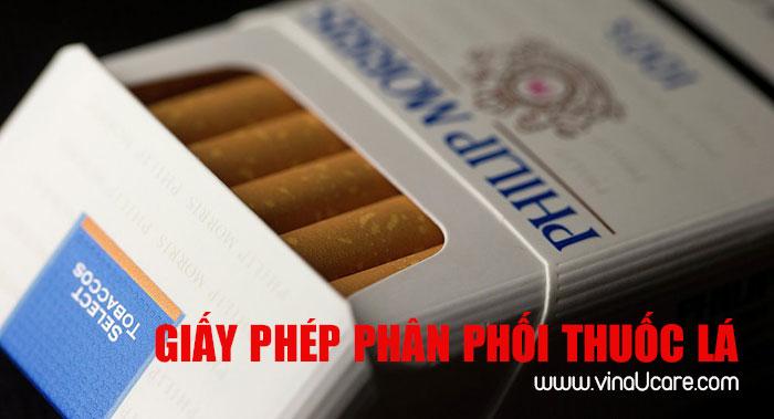 Hướng dẫn hồ sơ xin Giấy phép phân phối thuốc lá