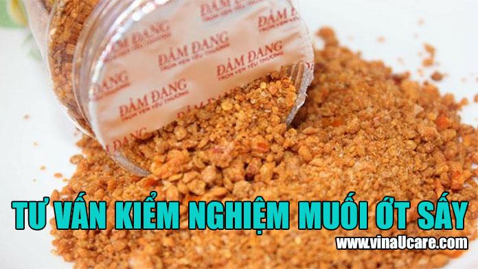 Dịch vụ kiểm nghiệm chất lượng muối ớt sấy khô nhanh chóng (Ảnh VinaUCare)