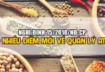Nghị định 15/2018/NĐ-CP: Nhiều điểm mới trong quản lý an toàn thực phẩm