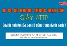 Những cơ sở không thuộc diện cấp giấy chứng nhận ATTP nghị định 15