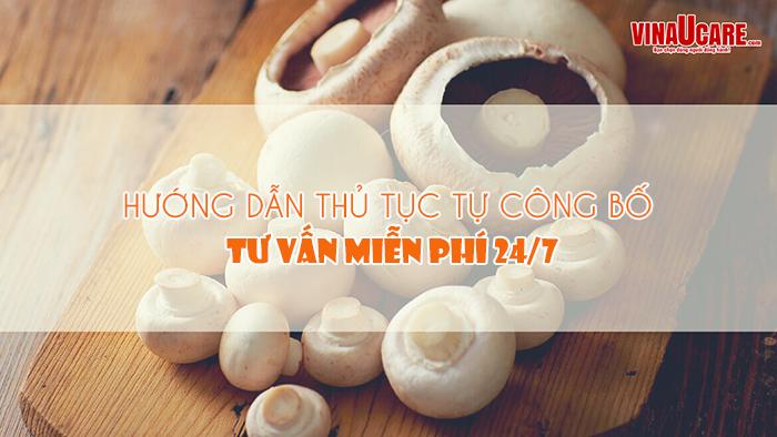 Hướng dẫn tự công bố chất lượng sản phẩm chà bông nấm (Ảnh VinaUCare)