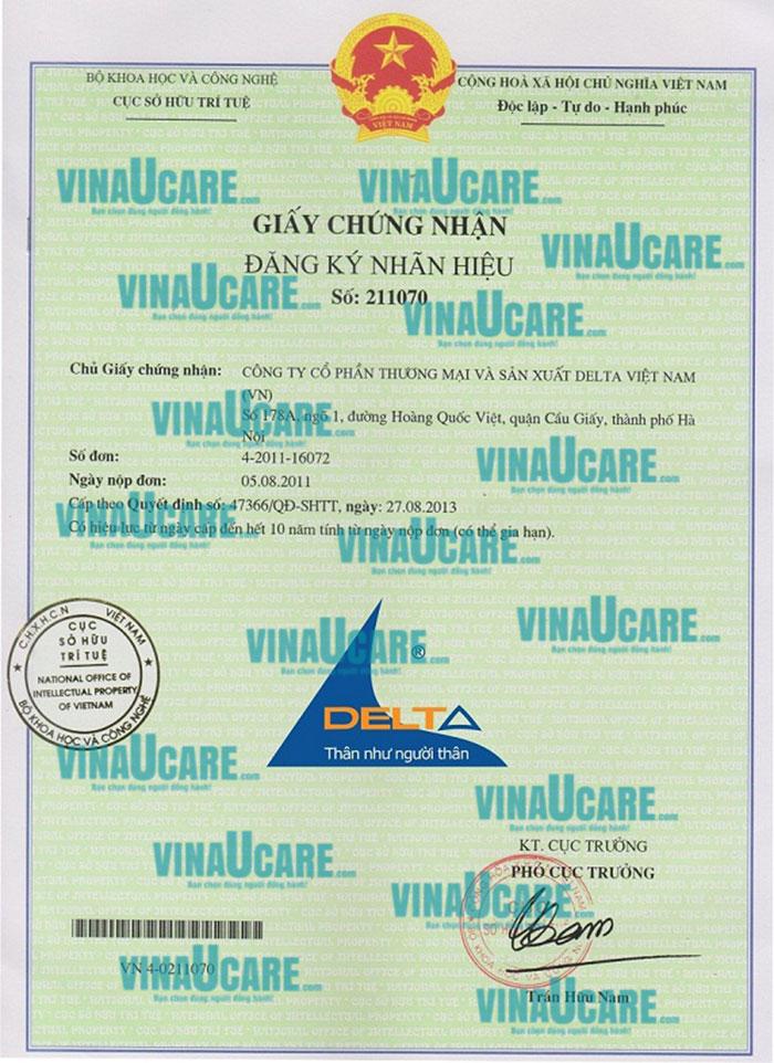 Mẫu Giấy chứng nhận đăng ký nhãn hiệu do Cục Sở Hữu Trí Tuệ cấp