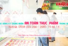 Xin vệ sinh an toàn thực phẩm cho quán ăn trong siêu thị
