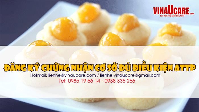 Đăng ký giấy phép vệ sinh an toàn thực phẩm bánh bông lan trứng muối