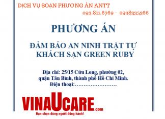 Dịch vụ soạn phương án ANTT khách sạn tại Vinaucare (Ảnh: Vinaucare)