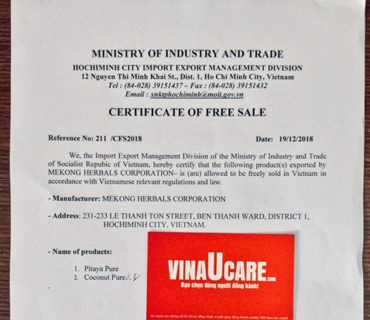 Đăng ký chứng nhận lưu hành tự do CFS uy tín và nhanh