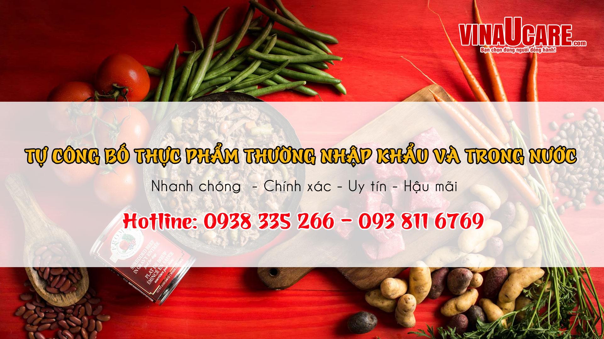 Dịch vụ tự công bố thực phẩm thường nhập khẩu và trong nước