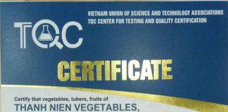 Mẫu chứng nhận thực phẩm ORGANIC, thực phẩm hữu cơ