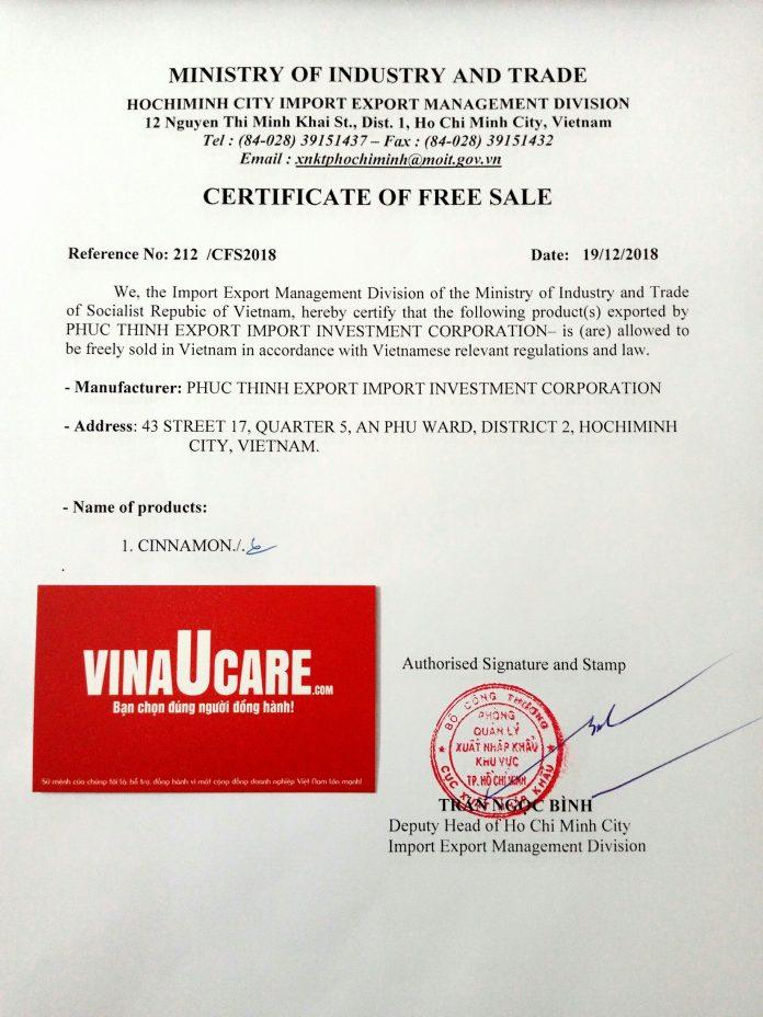 Hướng dẫn đăng ký chứng nhận lưu hành tự do