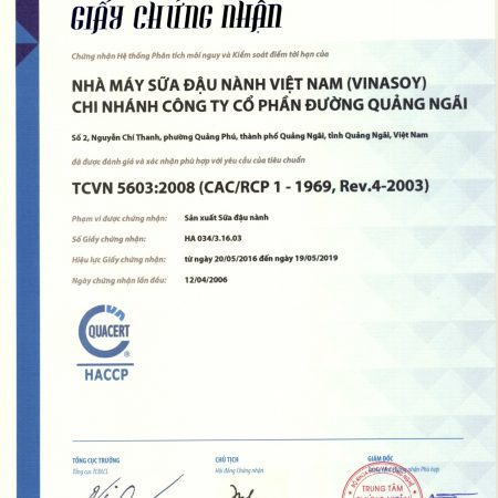 Chung nhan HACCP