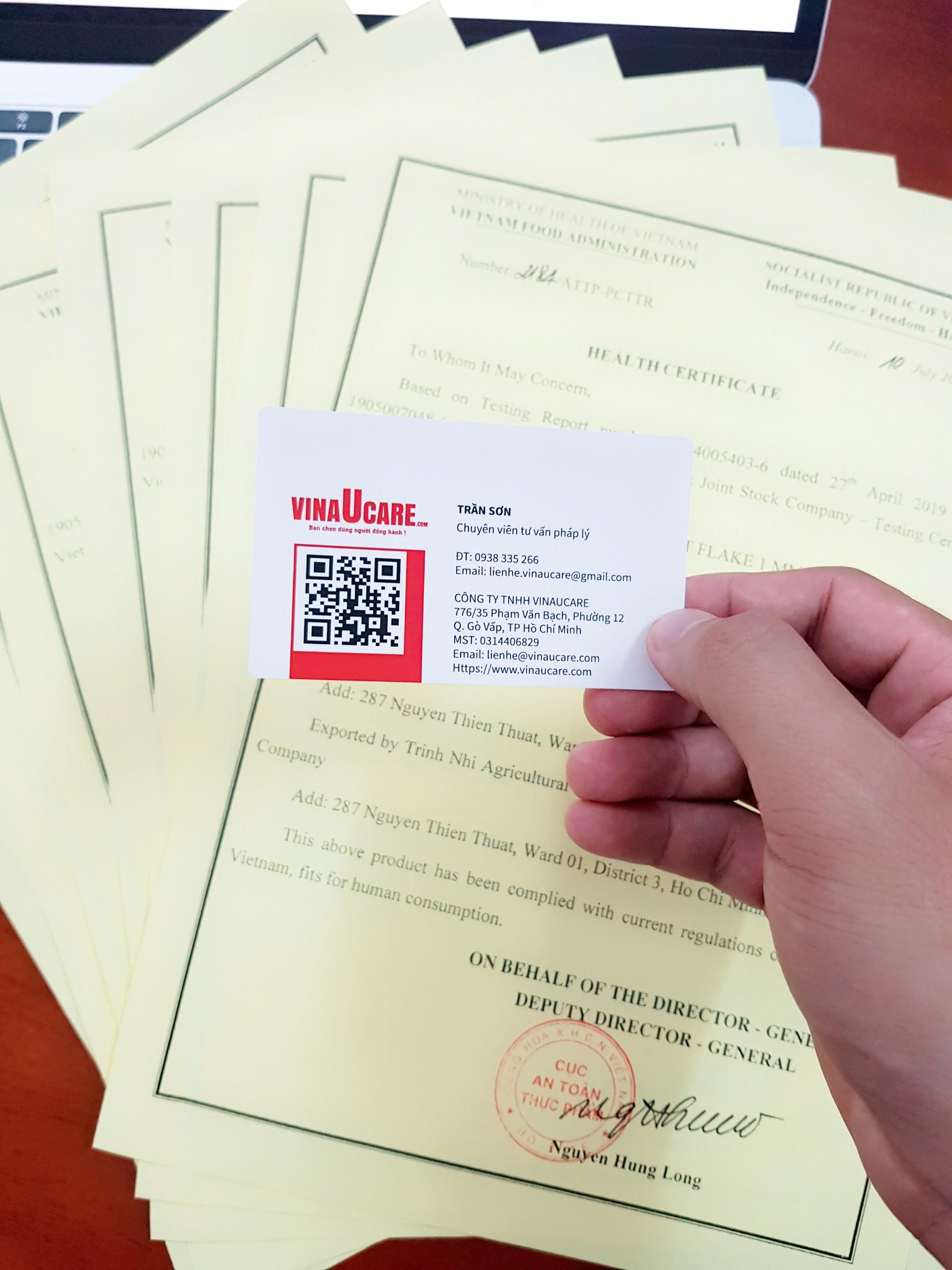 Chứng nhận y tế Health Certificate