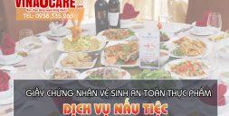 giấy chứng nhận vệ sinh an toàn thực phẩm dịch vụ nấu tiệc