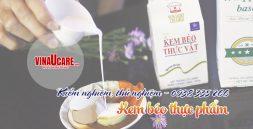 Kiểm nghiệm, thử nghiệm kem béo thực vật