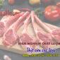 Kiểm nghiệm chất lượng thịt cừu các loại