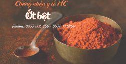 Chứng nhận y tế ớt bột
